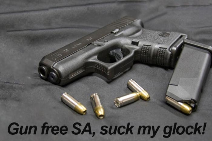 Gun free South Africa.